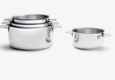 De Buyer batterie de 4 casseroles en inox Twisty Ø 14.16.18.20